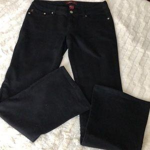• SEVEN Black Flare Jeans Embellished Pocket •